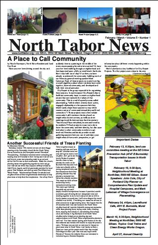 Volunteering for North Tabor News
