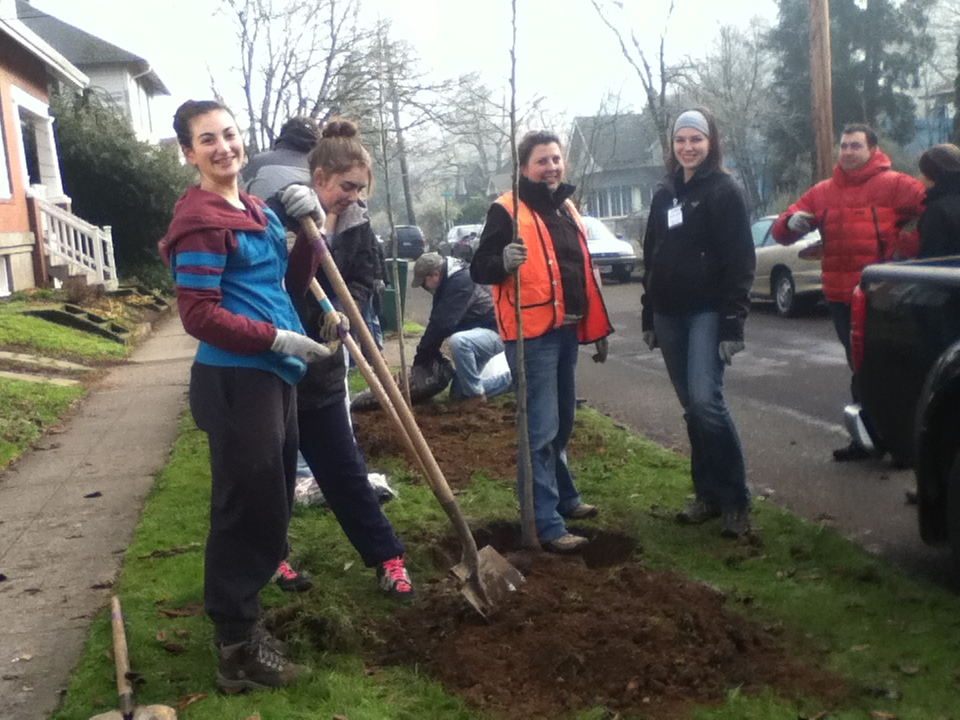 Friends of Trees North Tabor Tree Planting – Feb 1, 2020
