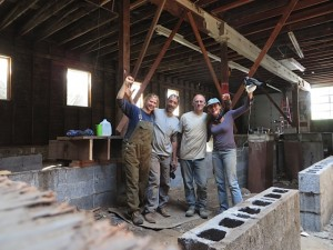 The fearsome foursome: Donna, Phil, Kevin, and Nicole. They have worked every weekend for months deconstructing the building to repurpose, recycle & reuse the materials.