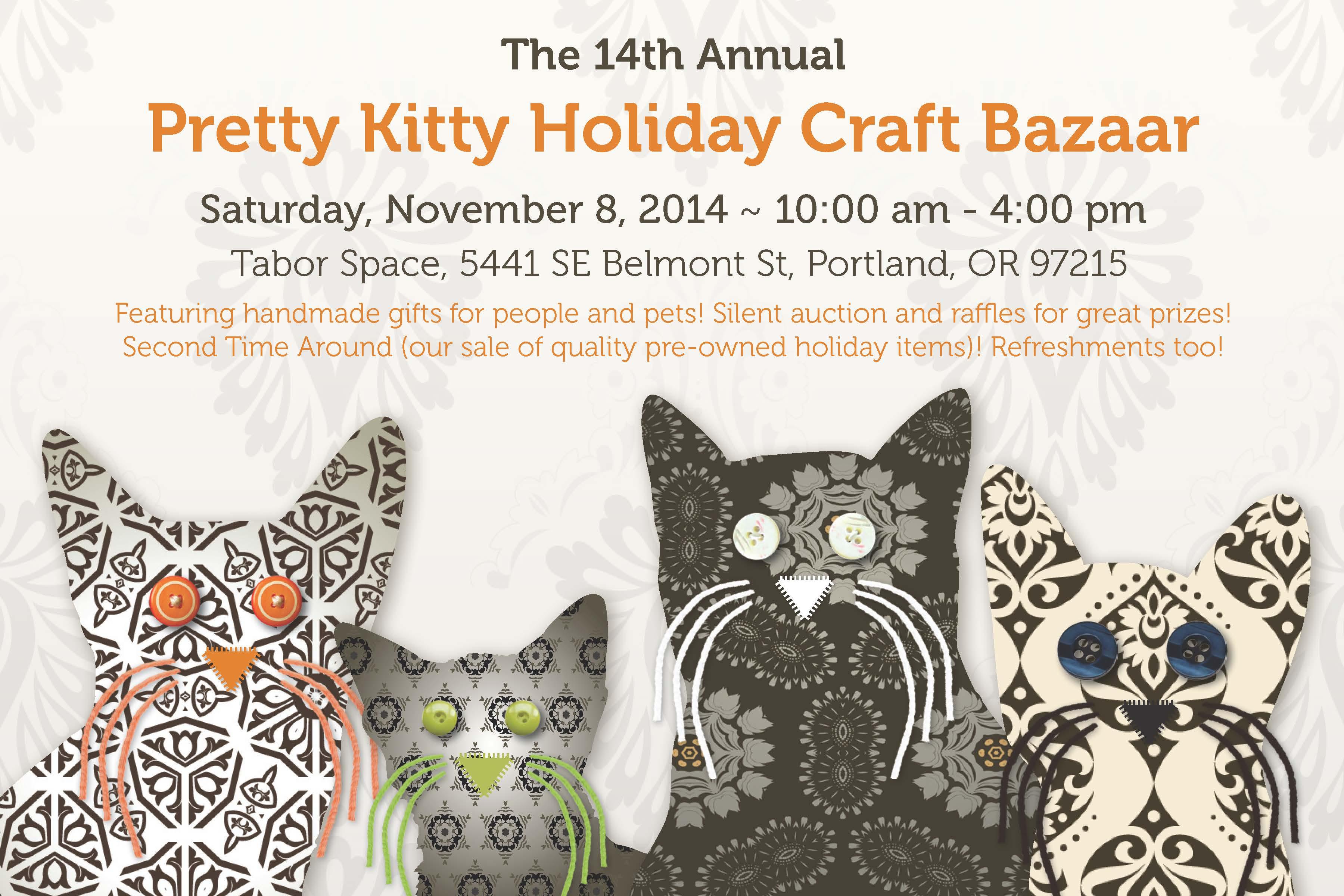 14th Annual Pretty Kitty Holiday Craft Bazaar on Saturday, November 8