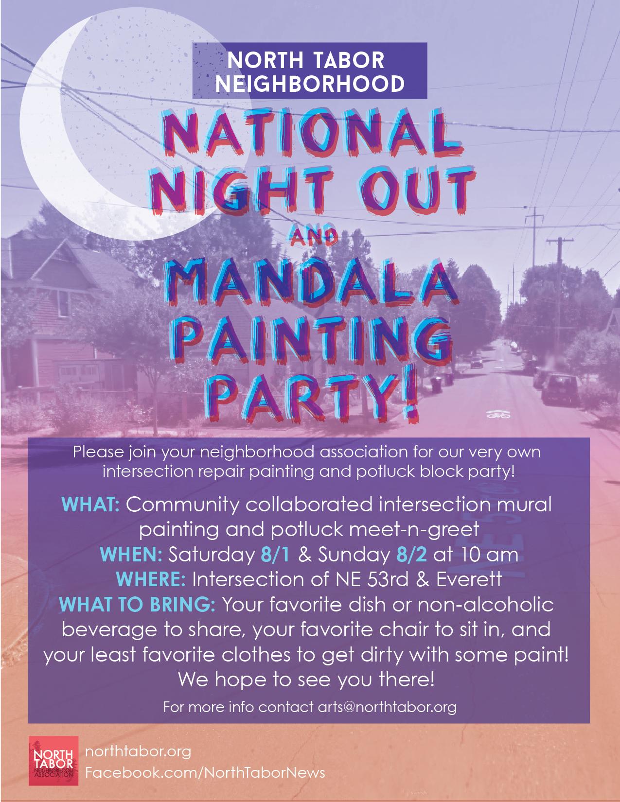Mandala Painting and Neighborhood Party!