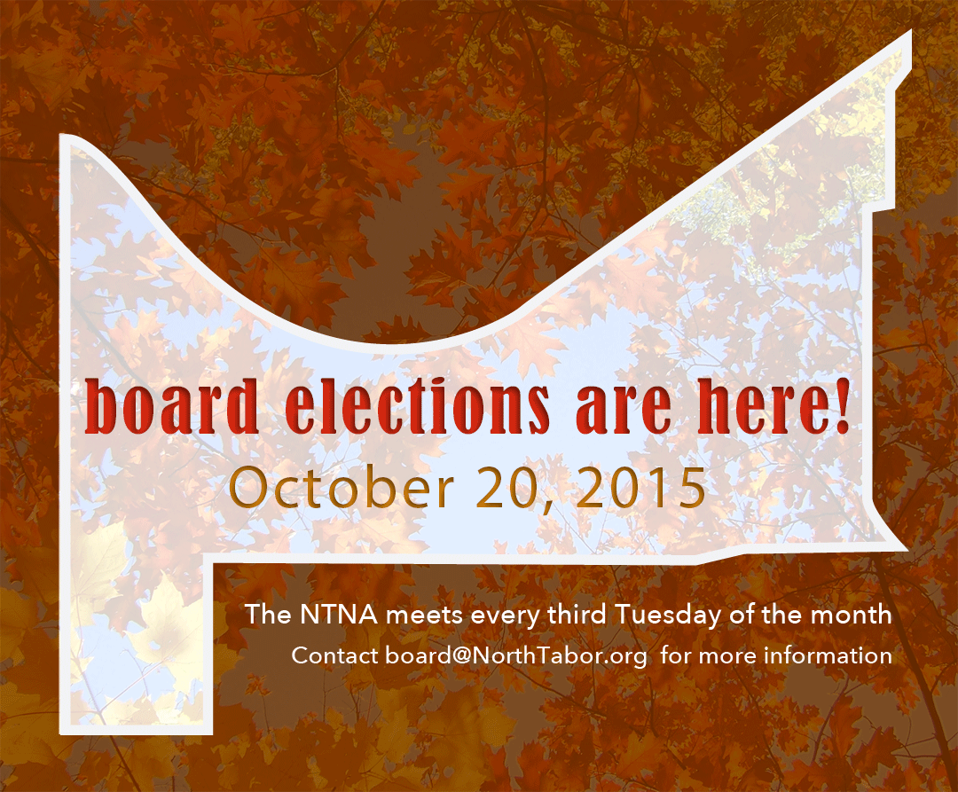 North Tabor Board Meeting Agenda: October 20th