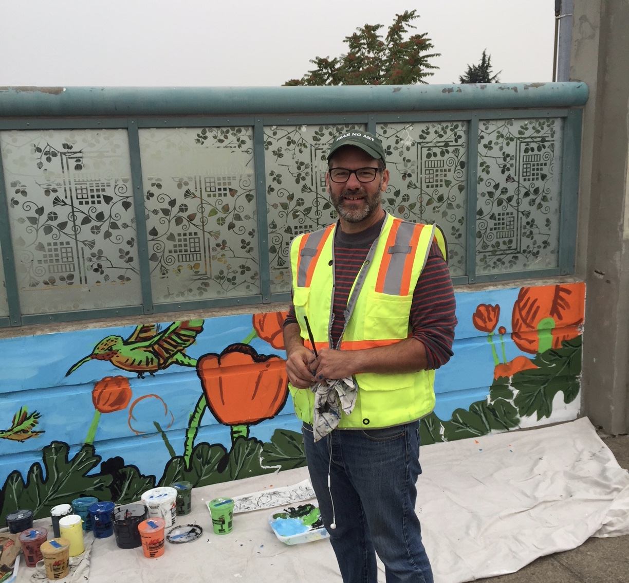 Photo update from 60th MAX station mural