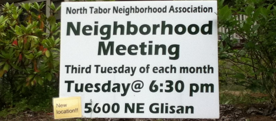 North Tabor board meeting agenda for June 17