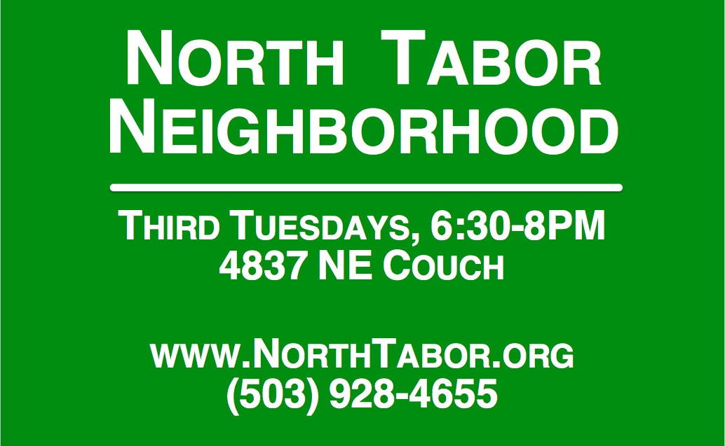 January North Tabor meeting: Tuesday, Jan. 16, 6:30pm
