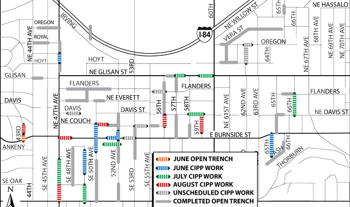 Tabor Sewer Repair project update: 7/13/18